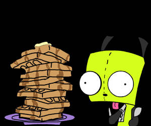 GIR with waffles by pokemon-mafia-boss