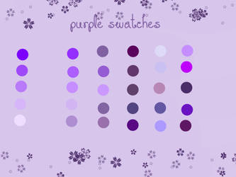 Purple Swatches for Photoshop - Download by Cecebelle
