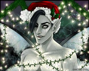 Fairy lights: Raffle piece. by LyssArts