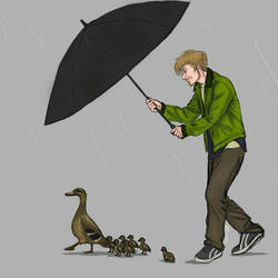 Emil and the Ducks  by IngridBeast