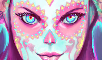 Catrina WIP by AdanFlores