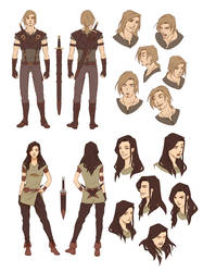 Character Designs by Zanariya