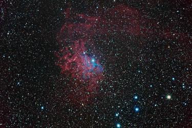 IC 405 - Flaming Star Nebula by DoomWillFindYou