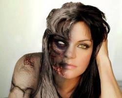 Pauley Perrette Abby as Hel  Goddess of the dead by SorayaCherub