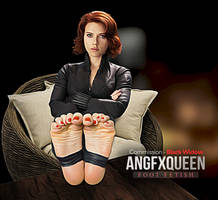 Black Widow Scarlett Johansson feet soles toes by ANGFXQUEEN