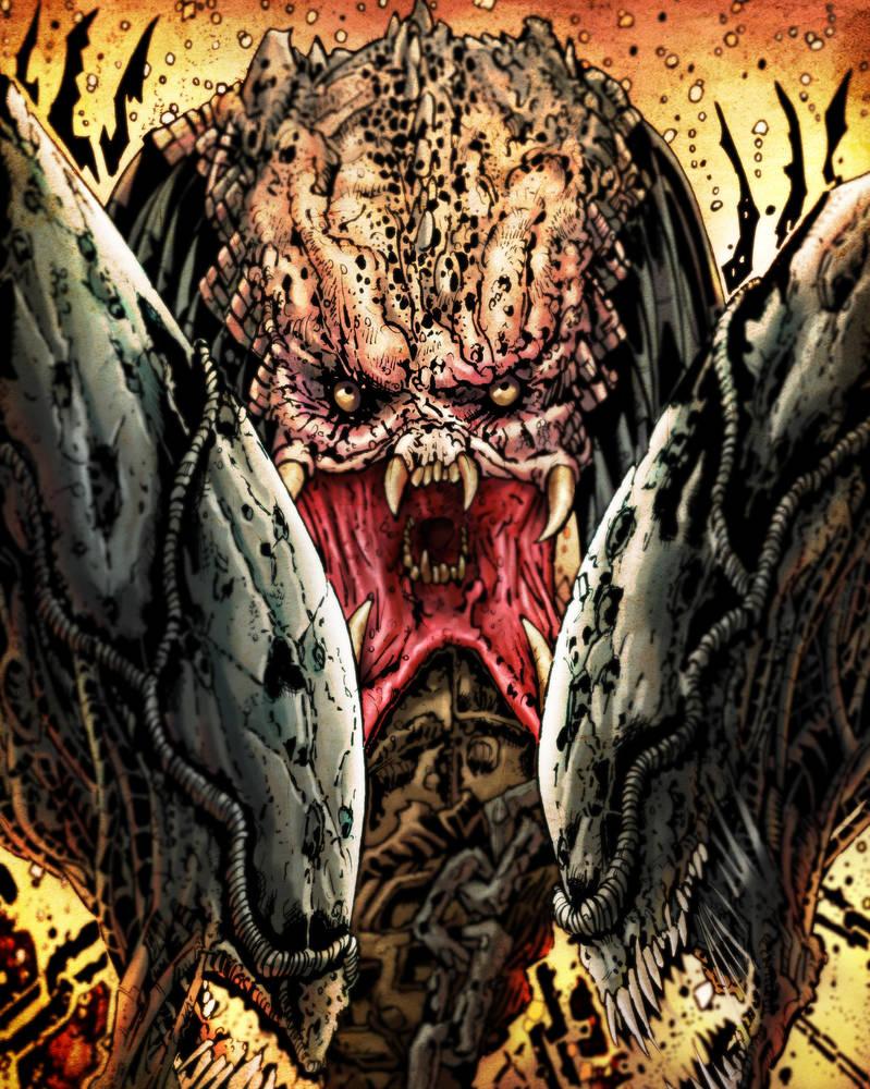 Predator vs Aliens copy by mrgaichor