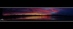 greenlake sunrise panorama by NWunseen