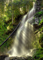 Gibson falls catching sunrays by NWunseen