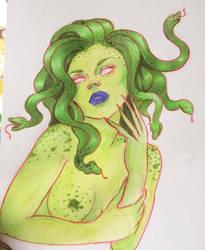 Pinup Medusa by Atomicbellyroll