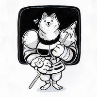 greater dog (Undertale) by Yodeki