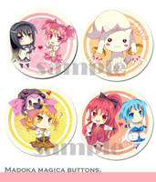 Madoka Magica Buttons by miacis83
