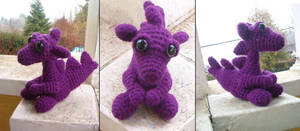 Baby Purple Dragon by KitsuneAteAGreeley