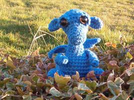 Baby Blue Dragon by KitsuneAteAGreeley