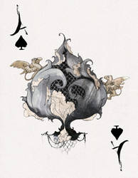 D'espairsRay Deck - Ace of Spades by robbiedraws