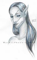 Mythic Portrait Experiment by MythicPhoenix