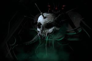 biopunk demon - speedpainting by Dekus