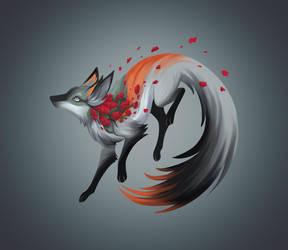 Crimson Clover Fox by fiachmara