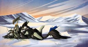 Snowy Romp by fiachmara