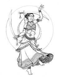 Tribal Dancer by Vogelein