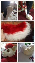 fursuit progress  by xSnarfy