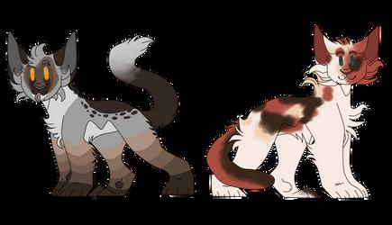 Raccoon and Rose Chibis by XxLunaxCrystalxX