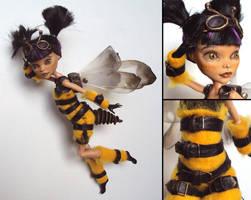 Steampunk-Wasp - Monster High custom by fuchskauz