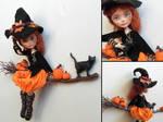 Pumpkin witch - ever after high custom by fuchskauz