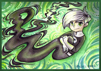 Art Trade: Ghostly Tail by sharkie19