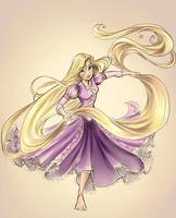 Rapunzel Colored by sharkie19