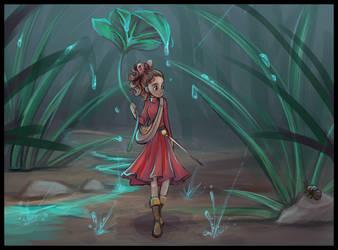 Arrietty in the Rain by sharkie19