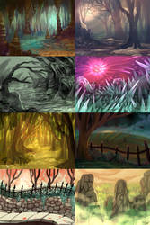 Backgrounds by sharkie19