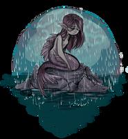 Mermaid in the Rain by sharkie19
