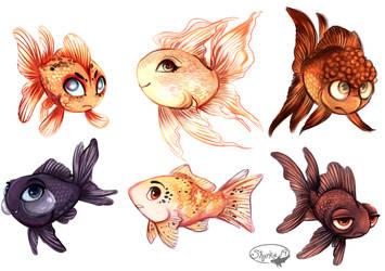 Goldfish by sharkie19