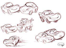 Cars Sketches by sharkie19