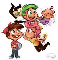 Fairly Odd Family by sharkie19
