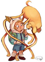 Adventure Time with Finn and Jake by sharkie19