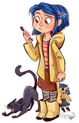 Coraline Sketch by sharkie19