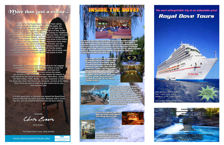 The Royal Dove Tours Brochure by FearOfTheBlackWolf