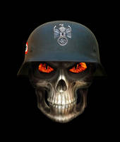 German Nazi Soldier Skull by FearOfTheBlackWolf