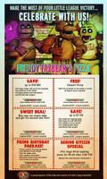 Freddy Fazbear's Pizza Coupons by FearOfTheBlackWolf