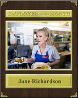 Jane's IHOP Employee of The Month Plaque by FearOfTheBlackWolf