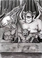 Gargoyles The Trio by HollyRoseBriar