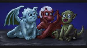 Trio Hatchlings by HollyRoseBriar