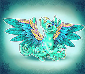 Chameleon Dragon  by HollyRoseBriar