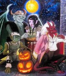 Happy slightly belated Halloween  by HollyRoseBriar