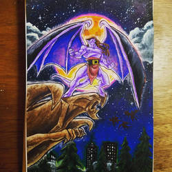 Gargoyles coloring book page  by HollyRoseBriar