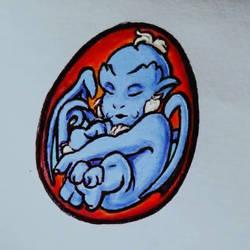 Blueshimura Egg by HollyRoseBriar