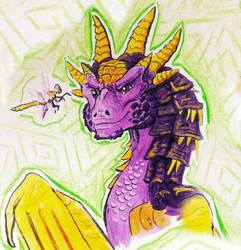 Spyro as a Dragonheart dragon  by HollyRoseBriar