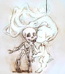 Fanart doodle of one of artofbianca 's paintings by HollyRoseBriar