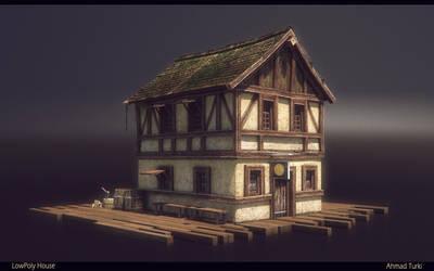 LowPoly House Render by AhmadTurk